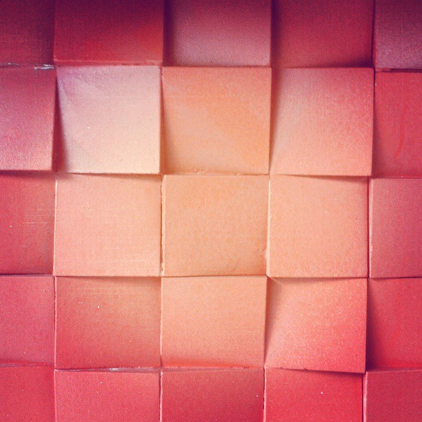 #texture #square #shapes #minimal #minimalism #red #redlicious #light #shadows #interiors #tile #architecture #wall #wallporn