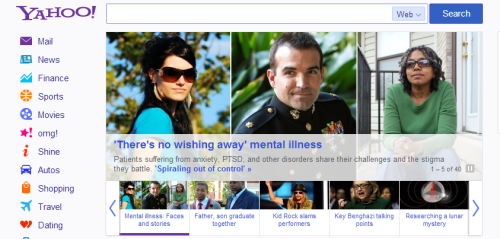 establishing-a-new-normal:  Saw this on the front page of Yahoo today. Looks like progress to me! The accompanying article: http://news.yahoo.com/photos/faces-of-mental-illness-patients-share-their-stories-1368030301-slideshow/