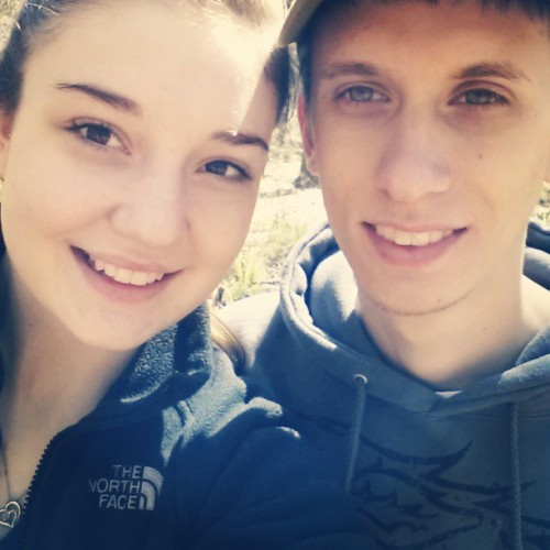 my boyfriend and I when we were hiking the trails at Manatee Springs State park in FL (♡˙︶˙♡) I had such a great time camping with him! I had never gone camping before :O I know, craziness! But I learned how to pitch a tent and all that great stuff! We also went kayaking down the Wakulla River the next day (because we couldn't kayak in Manatee Springs due to the boat ramps being closed) :3