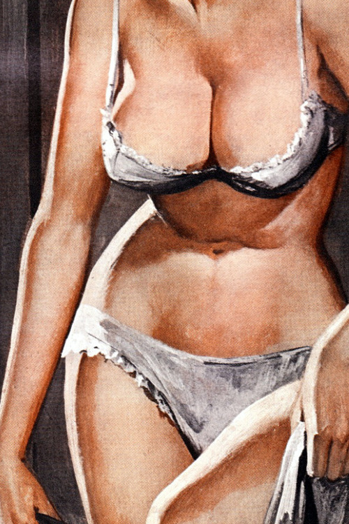 vintagegal: Story illustration for Stag Magazine by Charles Copland, 1969