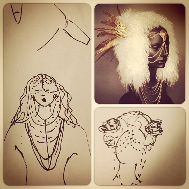 Sketches pre-music video creation for Echocell 'Babylon' http://youtu.be/rtZImma_8gU  #headpiece #musicvideo #electronicmusic #music #love #song #depechemode