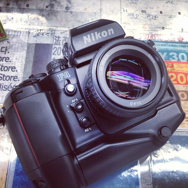 japancamerahunter:  The beast has arrived. You could slay dragons with this thing #camera #cameraporn #nikon #japan #believeinfilm