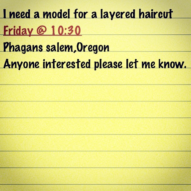 Contact ASAP #barberproblems (at Phagan's Cosmetology College)