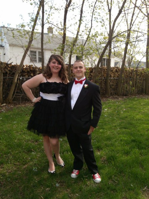 My boyfriend and I at prom this past weekend. I always hated my arms, but this blog made me realize there's absolutely no reason too! I'm 18, US size 17/18, cup size 42 D, and I weigh 213lbs, and proud! :)