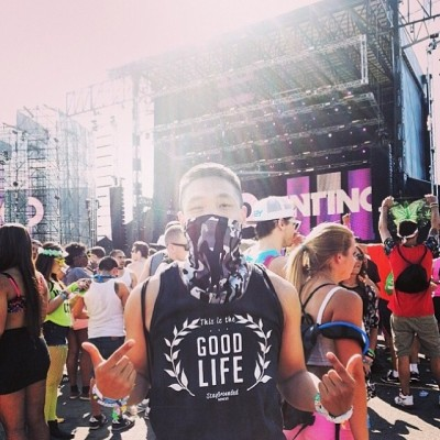 S/O to @phil2thejay rockin the good life tank at #EDCNY 🙌 #staygroundedmmxi #eastcoast #nyc #love