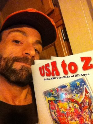 Look what the UPS dude dropped off today. OUR BOOK is here!USA to Z: Artful ABC's for Kids of All Ages