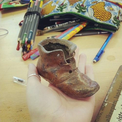 Will be making a glass counterpart for this little metal boot!! Excited!