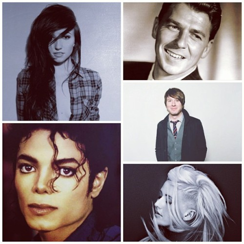 My inspirations/role models. Judge me all you want, but I'll stand up for all of them till the end of time, especially Michael. I'd say he's my biggest inspiration of them all.  They're all just amazing <3