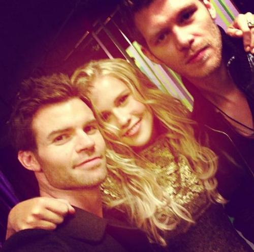 Daniel Claire and Joseph backstage at The Originals photoshoot