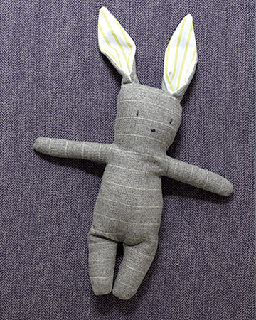 How to make this cute bunny from old menswear! Happy Easter!
