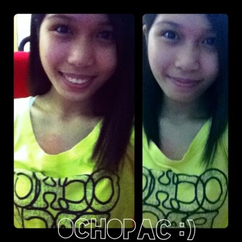 Wearing the Ochopac shirt again after a long time. :) It's small already which means we need to make new shirts. :p I miss you guys! #Ochopac
