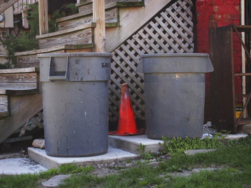 Garbage Cans with Cone on Flickr.