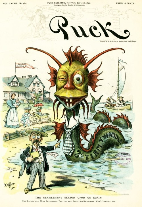 (via MONSTER BRAINS: Puck Magazine (1871 - 1918)) Frederick Burr Opper