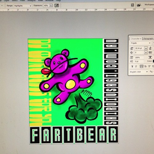 Making Fartbear stickers!!