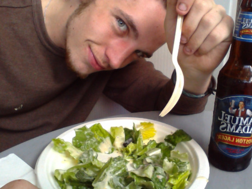I love me some salad, and a good beer.