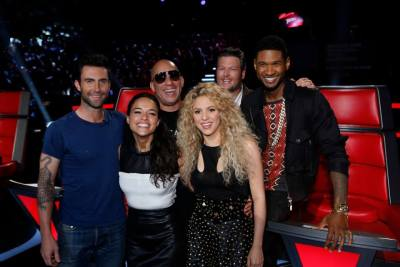 athenasasha:  The coaches from The Voice with the cast of The Fast and the Furious