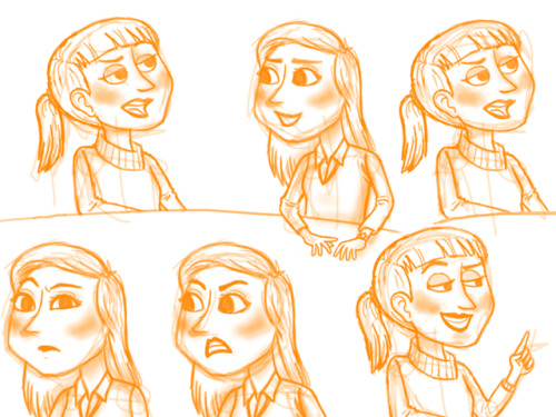 sketches! Working on my new assignment. :)