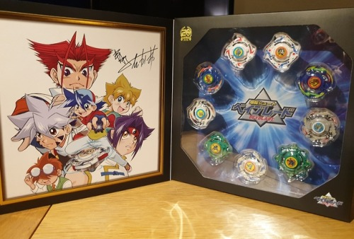 I treated myself to the special Beyblade 20th Anniversary box and it is absolutely gorgeous!!   I especially love the illustration by Takao Aoki2019 has been a good year for Beyblade fans :DThis was from a pre-order that closed back in April, sorry #beyblade #bakuten shoot beyblade #beyblade burst#takao kinomiya#kai hiwatari#rei kon#beyblade merch