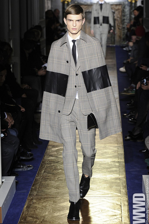 Valentino Men's RTW Fall 2013 Maria Grazia Chiuri and Pierpaolo Piccioli are among the ranks of designers speaking with an English accent this season.  For More WWD.com's complete coverage of Men's RTW Fall 2013