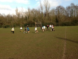 Olwen pressing for their second try - House Rugby