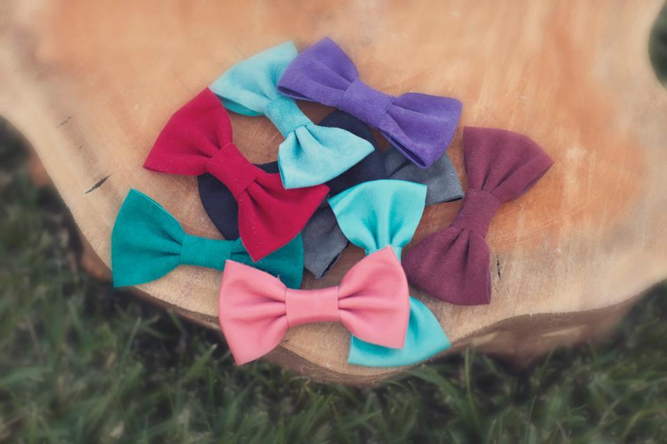 new suede and leather bows are up! check them out at: www.etsy.com/shop/hunnybunnyinc