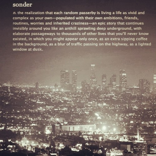jonodee:   The most amazing word. #sonder #life #existence