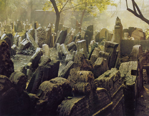 lostandfoundinprague:  Old Jewish Cemetery in Prague, 70's