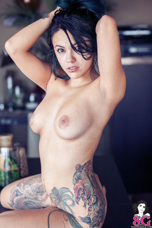 "suicidegirls:  It's Bixton from the set ""Cute Cutoffs"""