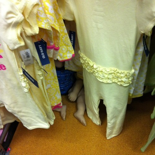 Wow.. This freaked me out.. #creepybaby #oldnavy (at Old Navy)