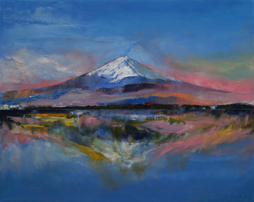 "thelookingglassgallery:  ""Mount Fuji"" by Michael Creese"