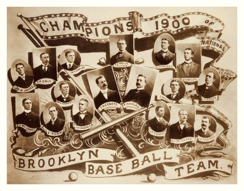 1899 Brooklyn Superbas Team Composite Champions Of the National League