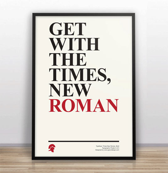 Typography posters poke fun at classic fonts