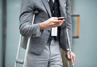 thetieguy:  crippled but still stylish.