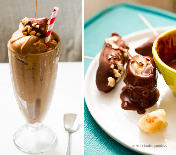 Peanut Butter Banana Chocolate Shake, topped with a chocolate-dipped frozen banana. This thing does not even look legal. Make this healthy treat to celebrate the end of another fantastic school year, and the beginning of summer—it's finally here! (via Healthy.Happy.Life.)