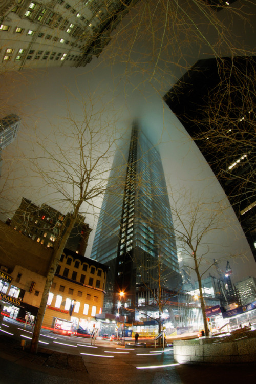 World Trade Center Site from Zuccotti Park Disappearing Into The Night 2013