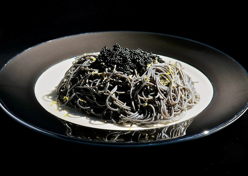 Black Capellini with Lemon and Caviar [recipe]