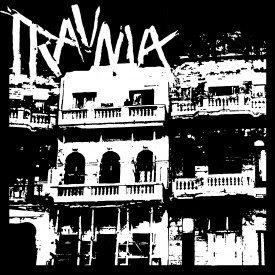 REVIEW: TRAUMA - 10 SONGS EP (Bulkhead, Portland) (Written by Ben Jensen) Holy shit!  I got an EP featuring two members of TRAGEDY (Billy and Todd) in the ol' STD PO box!  So — SPOILER ALERT — it's pretty much guaranteed this TRAUMA EP's gonna land itself STANDARD ISSUE's super-coveted, fabled-in-story-and-song, best-rating-anyone-can-get-from-us, 'NOT SHITTY' rating.  But goddam if these members of TRAGEDY, FINAL WARNING and LONG KNIFE (haven't heard them, but I know they toured with MEAN JEANS… am I totally blowin' it?) haven't earned it.  TRAUMA is blistering d-beat that never lets its heavy bottom slow it down, and the late Jeff Paul's vocals put most younger guns to shame; nobody on earth can dress you down and make you feel about two inches tall like someone's burly dad can, and that's the kinda power we see on display here from the FINAL WARNING veteran, as he tears his throat apart to bellow at us about war for profit and the corrupt political machine.  And holy shit if the instrumentation isn't EXACTLY thick enough to back those powerhouse vocals.  The rhythm section lays a foundation substantial enough for a city of castles, and the guitar sounds like its strings could strangle god.  This is a wider release re-formatting of a self-released demo cassette from 2009, and, in my opinion, BULKHEAD RECORDS should get a charitable tax return for re-releasing this gem.  First that ORGANIZED SPORTS LP, now this.  I'm liking this new label.  NOT SHITTY  A review of the album's artwork: It's pretty by-the-book punk graphic design.  If you were illiterate, you wouldn't be able to tell it apart from anything else in the crust/d-beat section of the record shop.  It's a classic look, but nothing to get any kind of excited about.  Full lyrics (almost; one track's lyrics are 'lost' apparently), band roster, live shots, and recording information, though, which is good.   KINDA SHITTY  [Rest In Peace, Jeff Paul.]