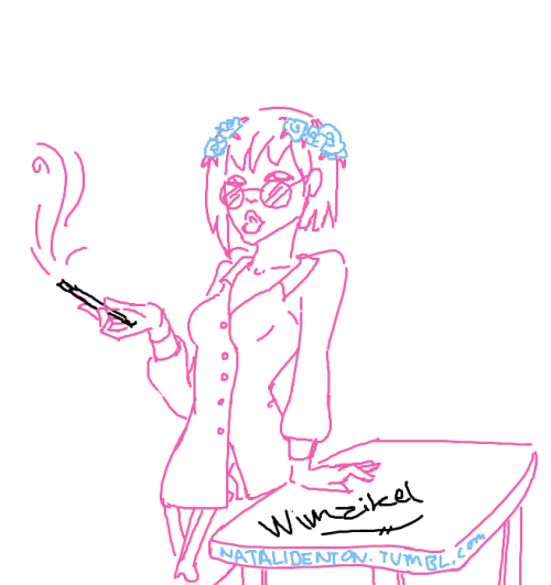 Quick MS Paint sketch done of Wimzikel from Gaiaonline!