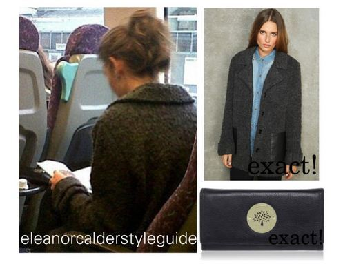 Eleanor on the train back to Manchester wearing this Sparkle and Fade coat and carrying this purse with her!