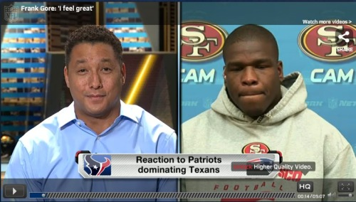 "Frank Gore joins ""NFL AM"" to talk about his team's upcoming showdown"