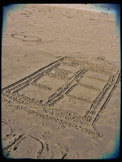 TARDIS sand art!!!  I wish I had seen the geeks who made it so we could have awkwardly talked Who.