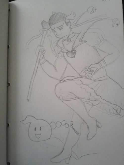 Tyrone in all his magical girl glory