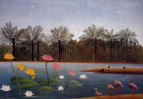 oilpaintinggallery:  The Flamingos by Henri Le Douanier Rousseau
