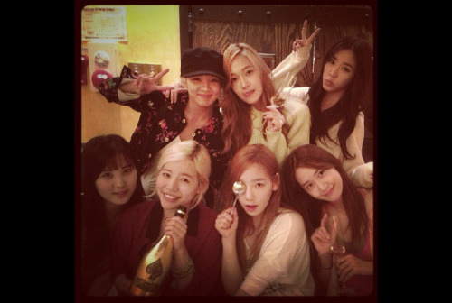 SNSD celebrating Sunny's birthday. Article here