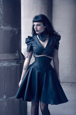 spookyloop:tenebris-studio:  Josephine skirt by Artiface Clothing (Model: Unknown)  Photographer: Aesthetic AlchemyModel: Maya Samaha (And a correction to the brand name: it is Artifice Clothing.)