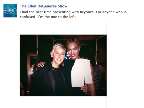 i-cry-babel-babel:  Ellen DeGeneres everybody.