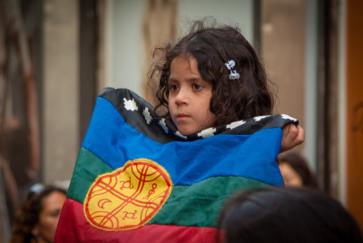 A few photos from yesterday's march in support of the Mapuche people and communities (Marcha en apoyo al pueblo Mapuche) are over on my Flickr account.