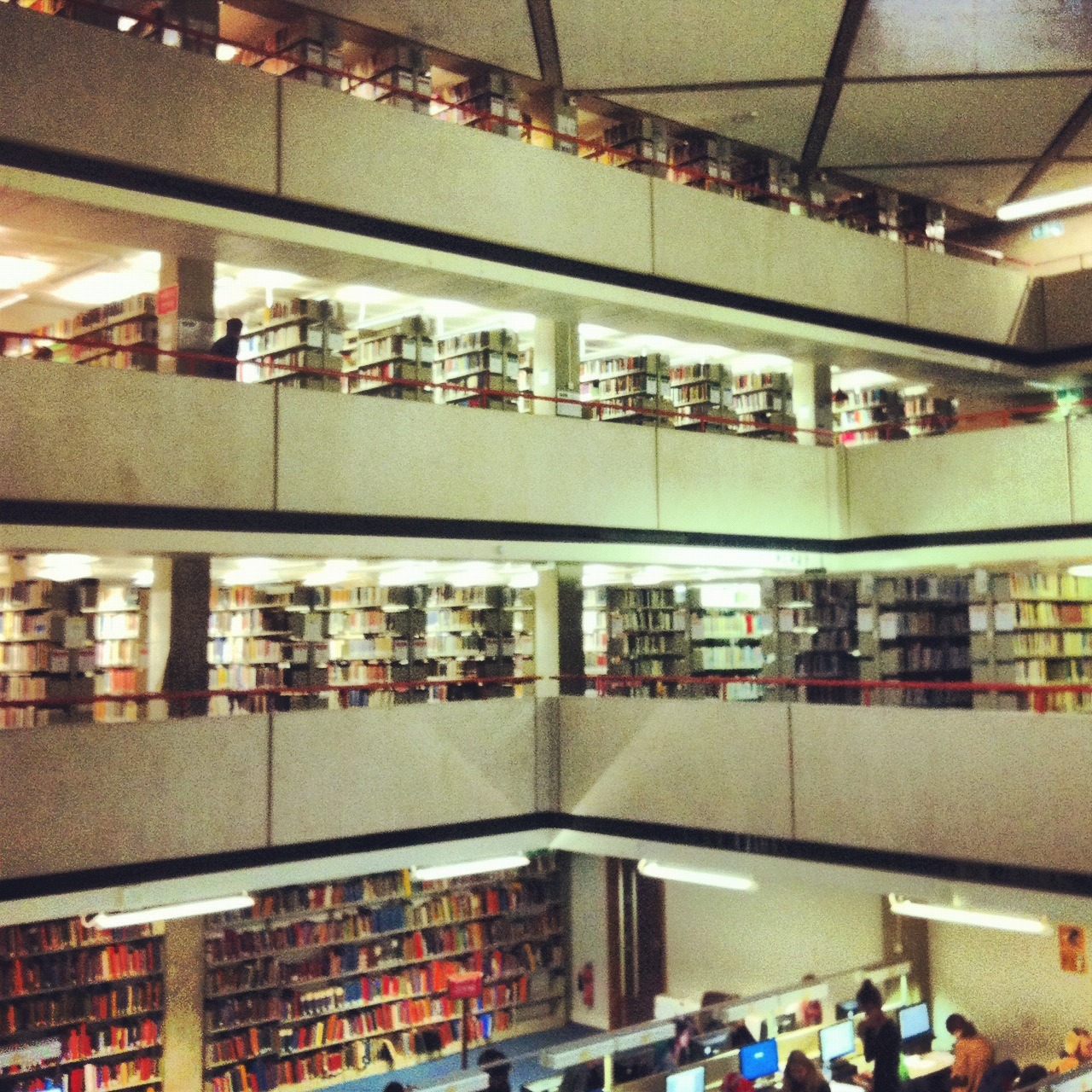 The library at the School of Oriental and African Studies in London.Photo credit: me :)