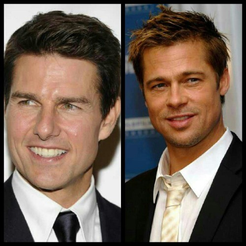 Is it bad I get these men mixed up? O.o #confused #why #bradpitt #tomcruise #mixedup #bad