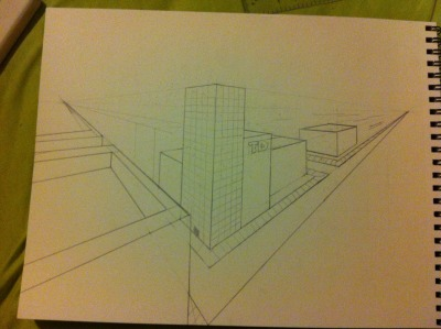 jus a little perspective drawing from tonight.